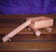 WOODEN TROLLEY