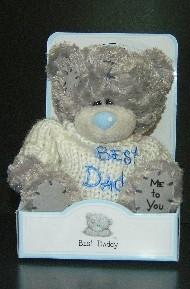 DAD - TATTY TEDDY - MESSAGE BEAR