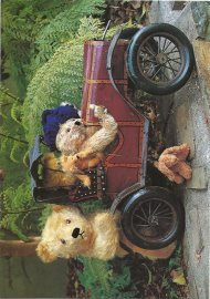 BLOOMSDALE CARDS - BEARS IN CAR