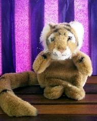 GOLD TIGER - HAND PUPPET