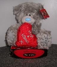 LOVE - TATTY TEDDY RED SATIN HEART